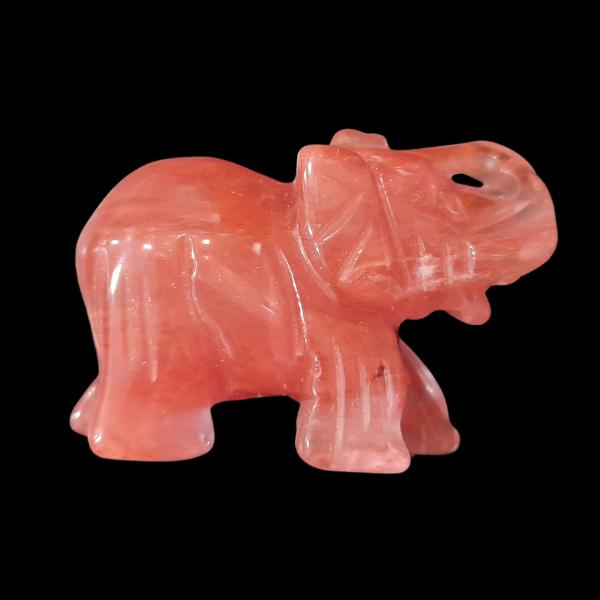Cseresznyekvarc elefánt