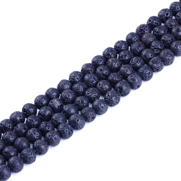 Lávakő, gömb alakú ásványgyöngyök