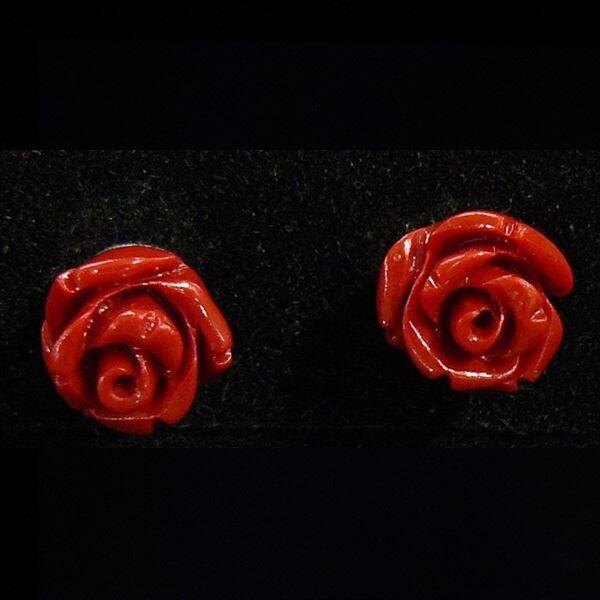 Korall rózsa fülbevaló