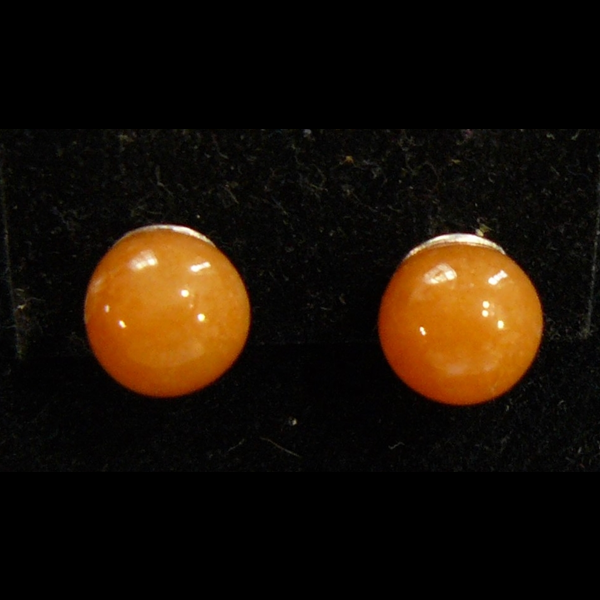 Narancs karneol fülbevaló