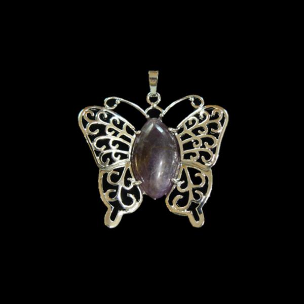 Ametiszt pillangó medál