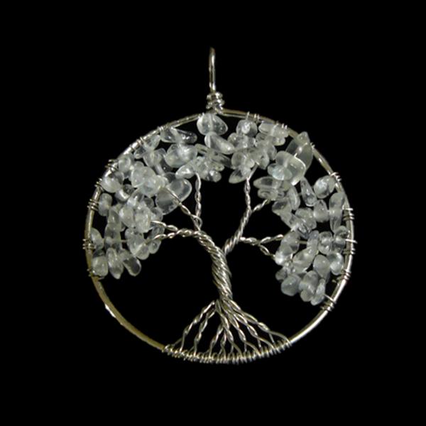Hegyikristály életfa medál