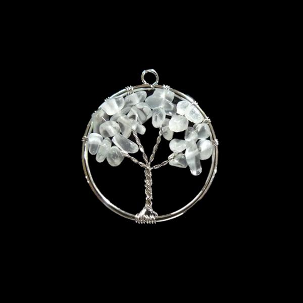 Hegyikristály életfa medál kicsi