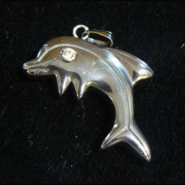 Hematit medál delfin