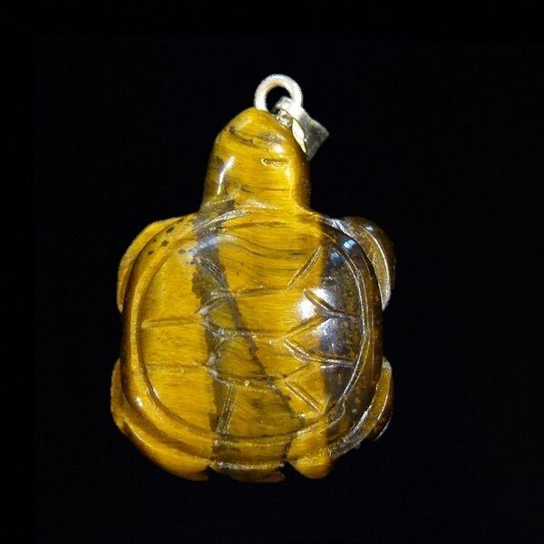 Tigrisszem teknős medál